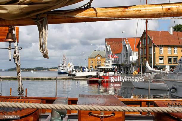ノルウェーハーバー - スタバンゲル ストックフォトと画像