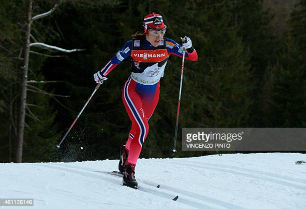 Norwegian Heidi Weng 3rd competes during the women's 5 km Individual classic style competition of the Tour de Ski Cross Country World Cup on January...