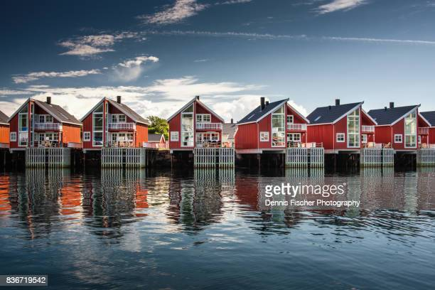 Norwegian houses on Lofoten islands