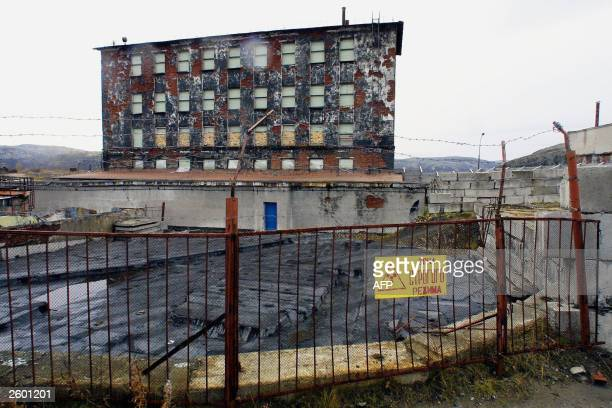 Norwegian journalists have been given access to the Andreyeva Bay, 15 October 2003 some 60 kilometres north-west from Murmansk on the Kola Peninsula...