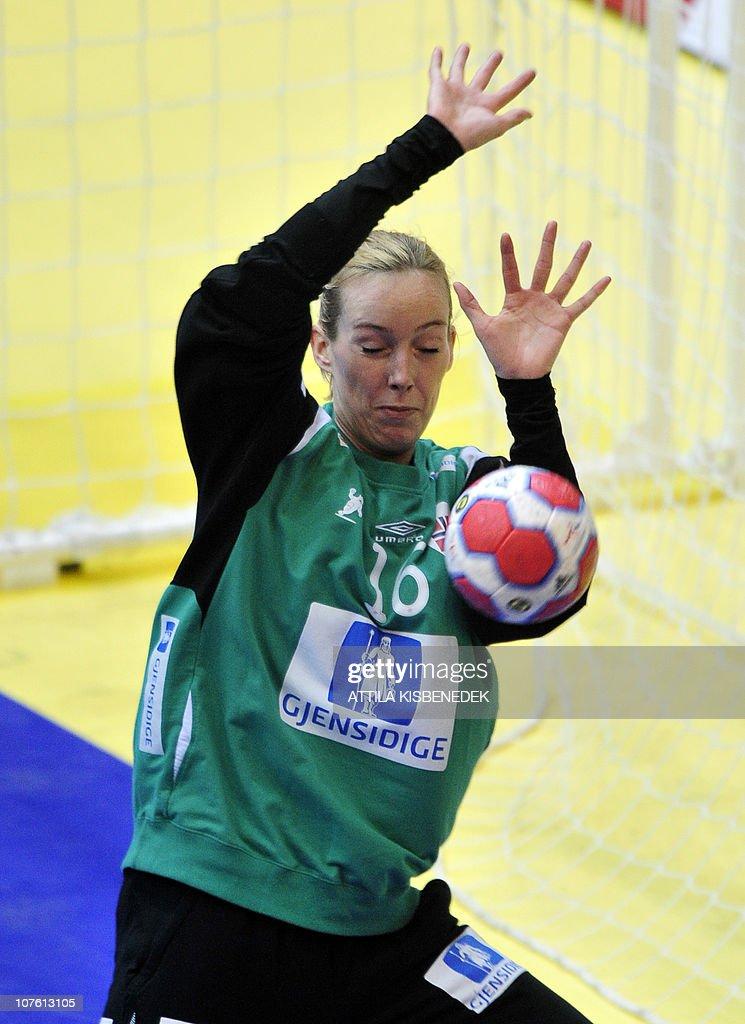 Norwegian Katrine Lunde Haraldsen Saves The Ball Against Netherlands News Photo Getty Images