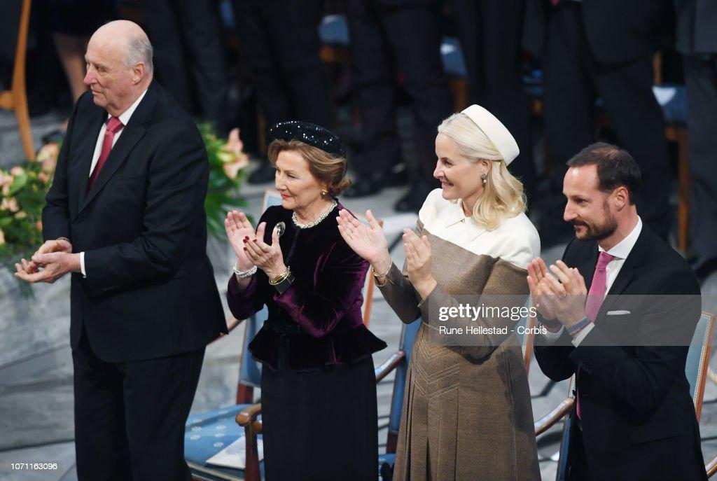 Nobel Peace Prize Award Ceremony 2018 : News Photo