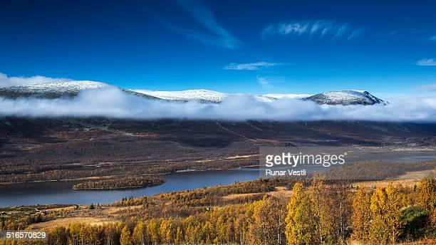 Norwegian mountain landscape in autumn colors