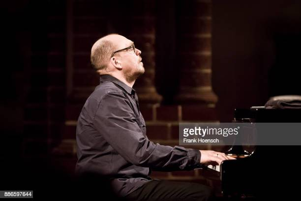 Norwegian musician and pianist Bugge Wesseltoft performs live during a concert at the Passionskirche on December 5 2016 in Berlin Germany