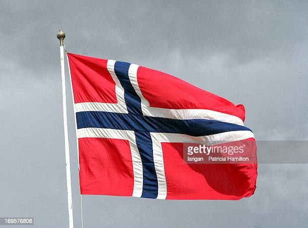 norwegian national flag - norwegian flag stock pictures, royalty-free photos & images