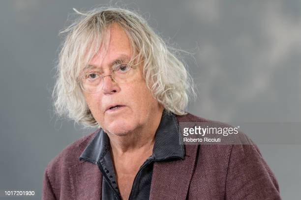 Norwegian novelist shortstory writer and dramatist Dag Solstad attends a photocall during the annual Edinburgh International Book Festival at...