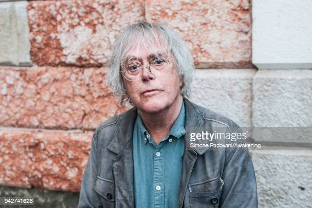 Norwegian novelist shortstory writer and dramatist Dag Solstad attends a photocall during Incroci di Civiltà International Literature Festival on...