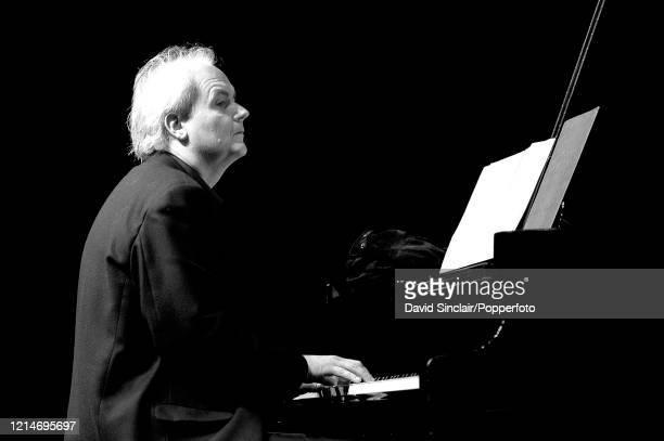 Norwegian pianist Ketil Bjornstad performs live on stage in London on 21st November 2002