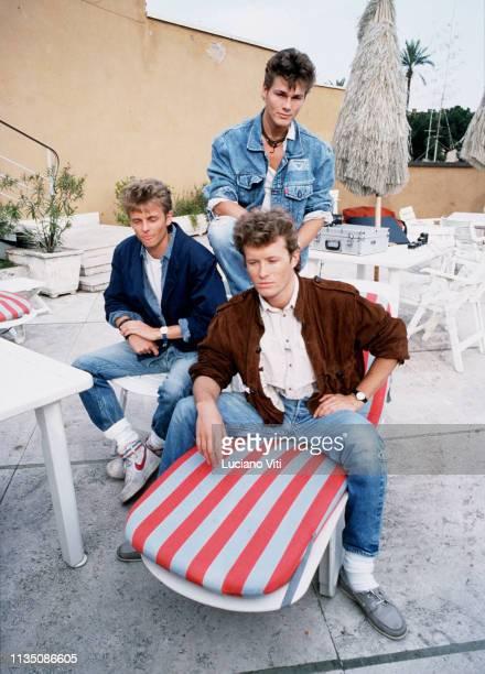 Norwegian pop band A-Ha , Rome, Italy, 1983.