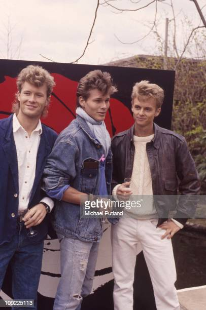 Norwegian pop group Aha at a shoot to promote the James Bond film 'The Living Daylights' for which the group performed the theme song UK 30th March...