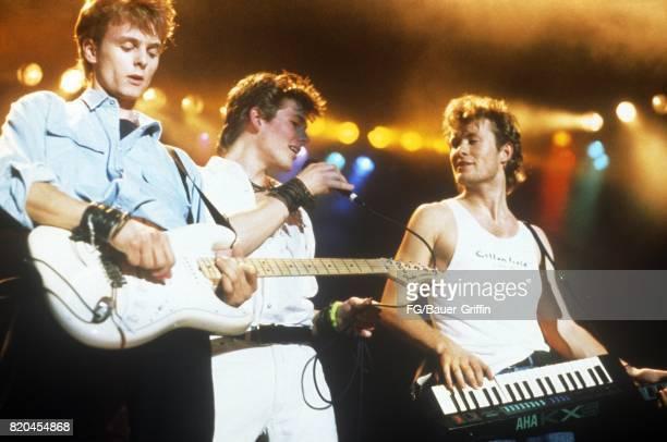 Norwegian pop group A-HA perform at the Johanneshovs Isstadion on November 29, 1986 in Stockholm, Sweden. 170612F1