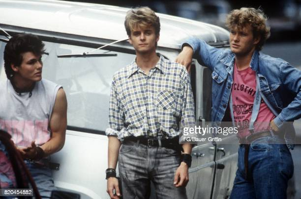 Norwegian pop group AHA pose for a portrait on November 29 1986 in Stockholm Sweden 170612F1