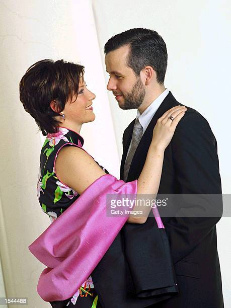 Norwegian Princess Martha Louise and her fiance Ari Behn pose for portraits in a studio May 22 2002 in Trondheim Norway The couple will be married...