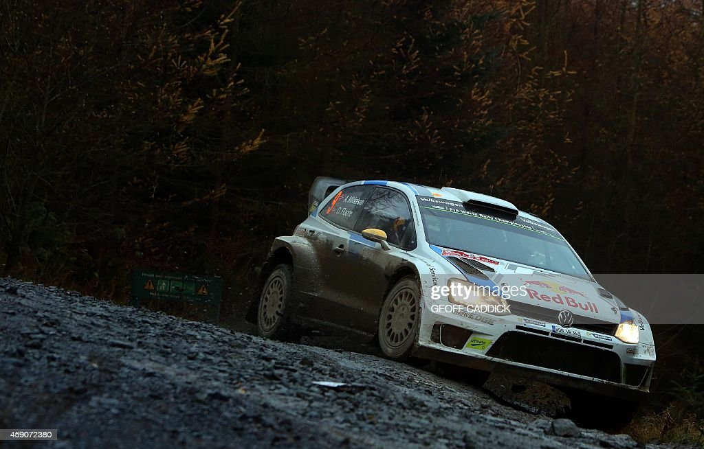 Norwegian rally driver Andreas Mikkelsen and his Nowegian co-driver ...