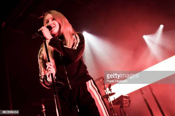 Norwegian singer Astrid Smeplass aka Astrid S performs live on stage during a concert at the Columbia Theater on October 18 2017 in Berlin Germany