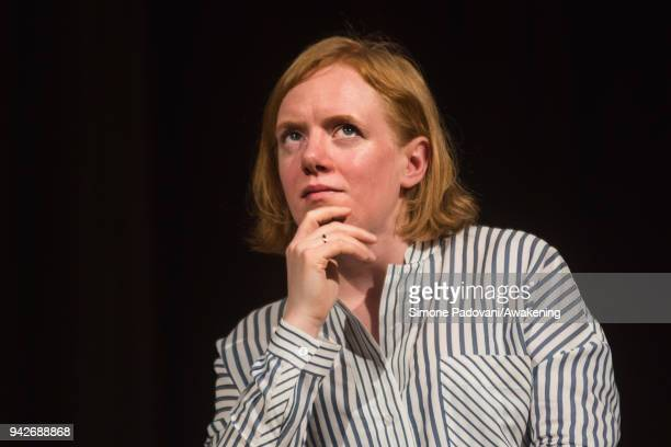 Norwegian writer and journalist Erika Fatland attends a photocall during Incroci di Civiltà International Literature Festival on April 6 2018 in...