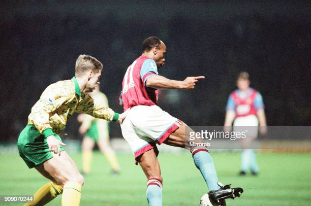 Norwich 10 Aston Villa League match at Carrow Road Wednesday 24th March 1993 Cyrille Regis