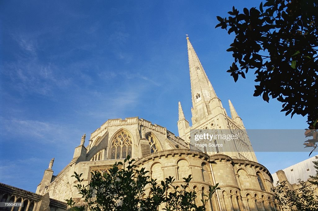 Norwich cathedral : Stock Photo