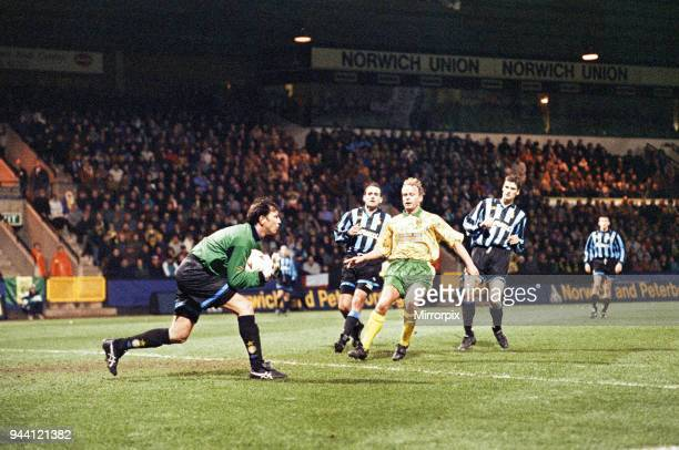 Norwich City 0 v Inter Milan 1 UEFA Cup Round 16 first leg at Bramall Lane Inter Milan won one nil courtesy of a Dennis Berkamp penalty in the 80th...
