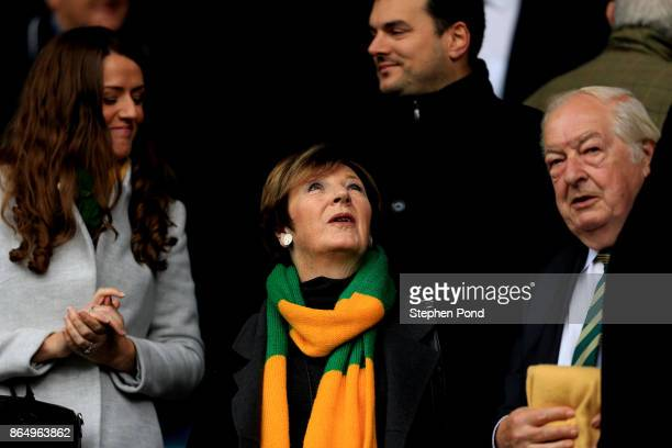 Norwich City Majority Shareholder Delia Smith during the Sky Bet Championship match between Ipswich Town and Norwich City at Portman Road on October...