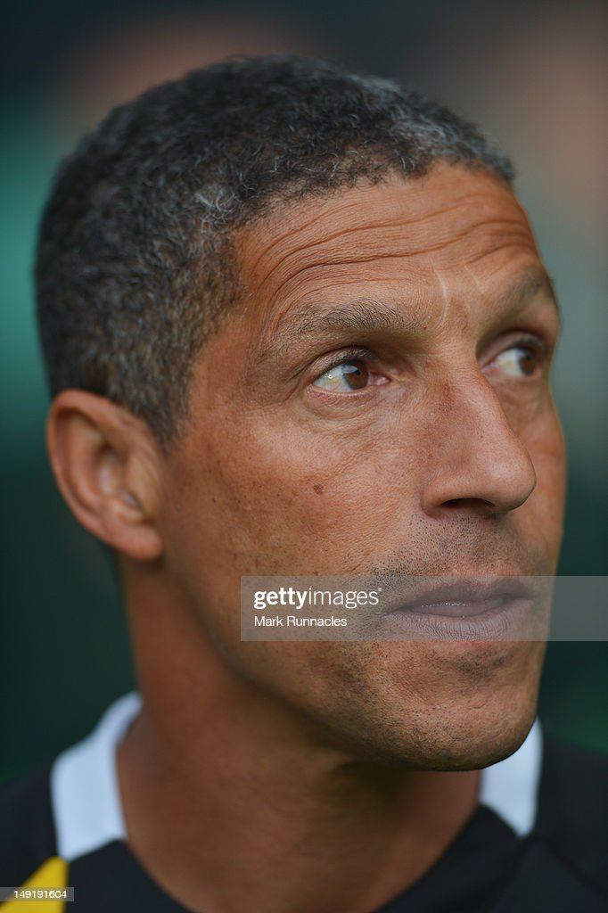 Norwich City Manager, Chris Houghton during the pre-season friendly match between Celtic and Norwich City, at ParkHead Stadium on July 24, 2012 in Glasgow, Scotland.