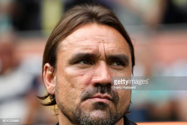 Norwich City manager Daniel Farke before the preseason friendly match between Norwich City and Brighton Hove Albion at Carrow Road on July 29 2017 in...