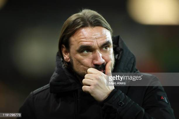 Norwich City manager Daniel Farke during the Premier League match between Norwich City and Crystal Palace at Carrow Road on January 1, 2020 in...