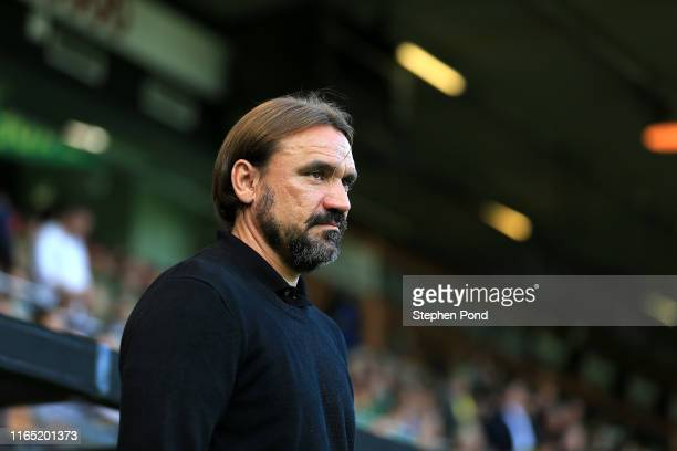 Norwich City Manager Daniel Farke during the pre-season Friendly match between Norwich City and Atalanta at Carrow Road on July 30, 2019 in Norwich,...