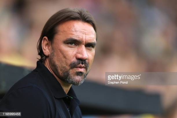 Norwich City Manager Daniel Farke during the Pre-Season Friendly match between Norwich City and Toulouse at Carrow Road on August 03, 2019 in...