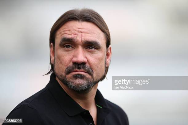 Norwich City manager Daniel Farke is seen ahead of the Premier League match between Newcastle United and Norwich City at St. James Park on February...