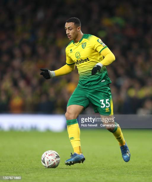 Norwich City's Adam Idah during the FA Cup Fifth Round match between Tottenham Hotspur and Norwich City at Tottenham Hotspur Stadium on March 4 2020...