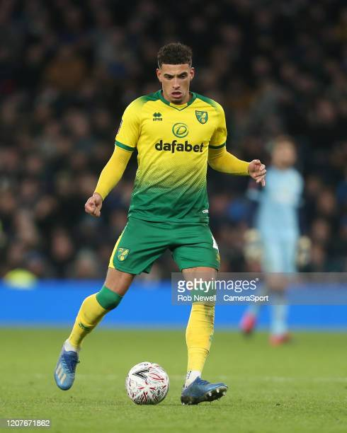 Norwich City's Ben Godfrey during the FA Cup Fifth Round match between Tottenham Hotspur and Norwich City at Tottenham Hotspur Stadium on March 4...