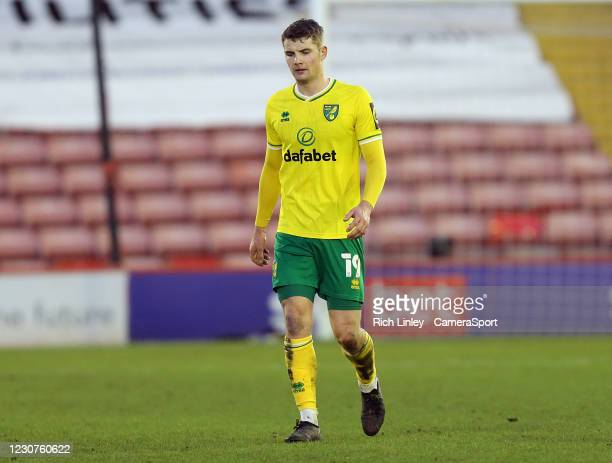 Norwich City's Jacob Lungi Sorensen during the The Emirates FA Cup Fourth Round match between Barnsley and Norwich City at Oakwell Stadium on January...