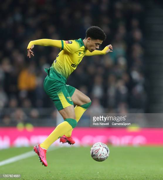 Norwich City's Jamal Lewis during the FA Cup Fifth Round match between Tottenham Hotspur and Norwich City at Tottenham Hotspur Stadium on March 4...
