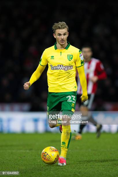 Norwich City's James Maddison in action during the Sky Bet Championship match between Brentford and Norwich City at Griffin Park on January 27 2018...
