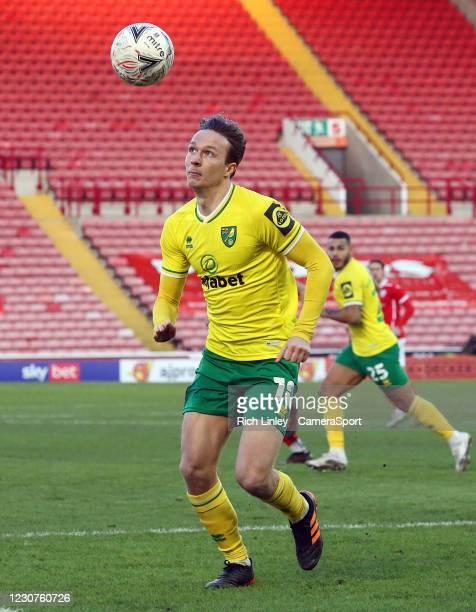 Norwich City's Kieran Dowell during the The Emirates FA Cup Fourth Round match between Barnsley and Norwich City at Oakwell Stadium on January 23,...