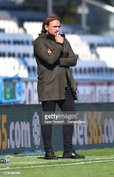 Norwich City's Manager Daniel Farke during the Sky Bet Championship match between Huddersfield Town and Norwich City at John Smith's Stadium on...