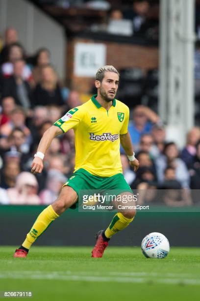 Norwich City's Mario Vrancic in action during the Sky Bet Championship match between Fulham and Norwich City at Craven Cottage on August 5 2017 in...