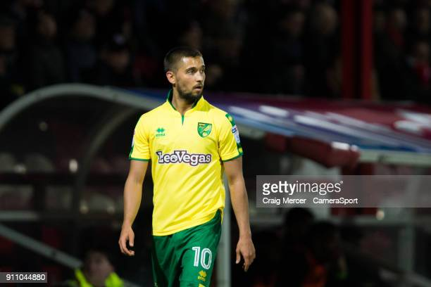 Norwich City's Moritz Leitner during the Sky Bet Championship match between Brentford and Norwich City at Griffin Park on January 27 2018 in...