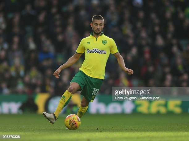 Norwich City's Moritz Leitner during the Sky Bet Championship match between Norwich City and Bolton Wanderers at Carrow Road on February 24 2018 in...