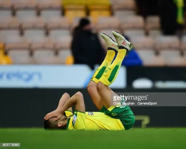 Norwich City's Moritz Leitner reacts at the end of the Sky Bet Championship match between Norwich City and Bolton Wanderers at Carrow Road on...
