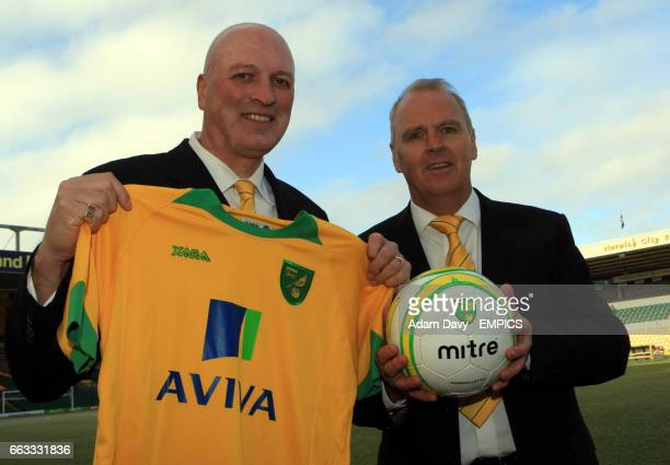 Norwich City's newly appointed Manager Bryan Gunn and Chief Scout John Deehan