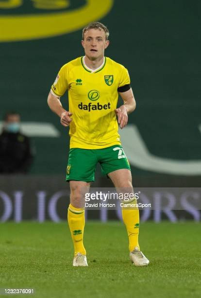 Norwich City's Oliver Skipp during the Sky Bet Championship match between Norwich City and AFC Bournemouth at Carrow Road on April 17, 2021 in...