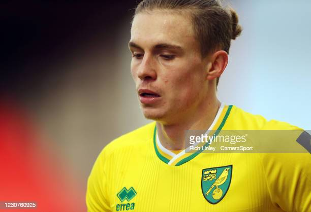 Norwich City's Przemyslaw Placheta during the The Emirates FA Cup Fourth Round match between Barnsley and Norwich City at Oakwell Stadium on January...