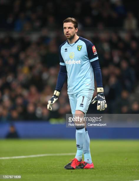 Norwich City's Tim Krul during the FA Cup Fifth Round match between Tottenham Hotspur and Norwich City at Tottenham Hotspur Stadium on March 4 2020...