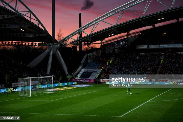 Norwich goalkeeper Michael McGovern during the Sky Bet Championship match between Huddersfield Town and Norwich City at Galpharm Stadium on April 5...