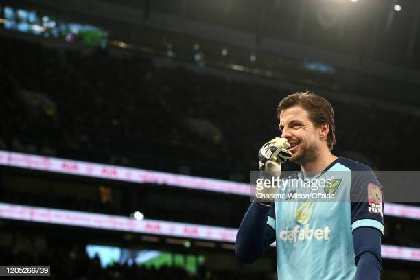 Norwich goalkeeper Tim Krul during the FA Cup Fifth Round match between Tottenham Hotspur and Norwich City at Tottenham Hotspur Stadium on March 4...