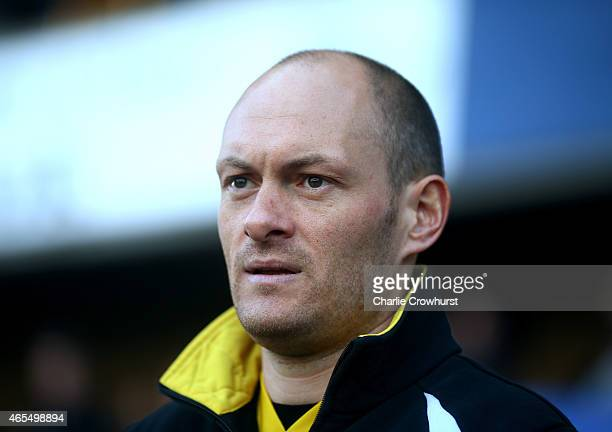 Norwich manager Alex Neil during the Sky Bet Championship match between Millwall and Norwich City at The Den on March 07 2015 in London England