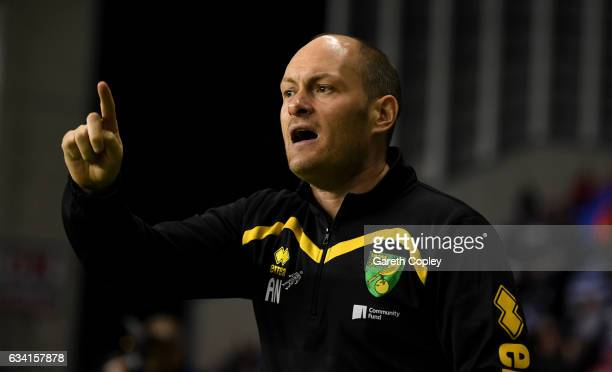 Norwich manager Alex Neil during the Sky Bet Championship match between Wigan Athletic and Norwich City at DW Stadium on February 7 2017 in Wigan...