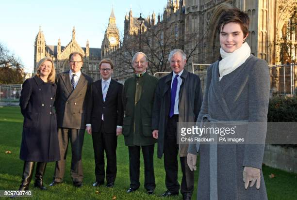 Norwich North MP Chloe Smith stands with from left Elizabeth Truss MP South West Norfolk George Freeman MP MidNorfolk Ben Gummer MP Ipswich Henry...